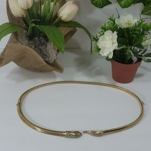 Accessocraft NYC gold tone snake belt